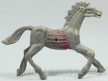 Brinquedos Antigos - Casablanca e Gulliver - Cavalo �ndio cinza com furo lateral para Carro�a Distribu�do pela Viocena D�cada de 1970