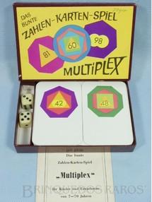 1. Brinquedos antigos - J.Ch.Mellinger Verlag - Jogo de dados e cartas Multiplex com Manual em Alemão Década de 1970
