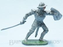 1. Brinquedos antigos - Casablanca e Gulliver - Soldado medieval com Escudo e Espada Cópia Elastolin Série Os Cavaleiros do Rei Arthur Ano 1977