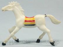 Brinquedos Antigos - Casablanca e Gulliver - Cavalo �ndio branco Distribu�do pela Trol e pela Viocena D�cada de 1970
