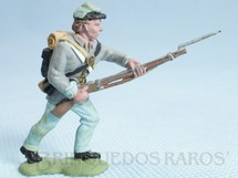 1. Brinquedos antigos - Herald - Soldado Confederado avançando com fuzil Década de 1950 Figura Matriz para Soldado Fanabri Batalha do Tuiuti