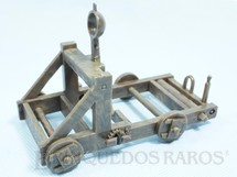 1. Brinquedos antigos - Britains - Catapulta Medieval com 10,00 cm de comprimento Primeira Série Década de 1960