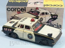 1. Brinquedos antigos - Metalma - Ford Corcel I com 22,00 cm de comprimento Versão Polícia Década de 1970