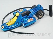 1. Brinquedos antigos - Estrela - Tufão azul metalizado Série Super Sônica com som e faíscas Ano 1976