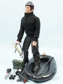 1. Brinquedos antigos - Estrela - Falcon Aventura Contra Espionagem Missão Especial a Ilha dos Espiões completo com Bote Inflável mais 11 Itens Edição 1977 Preço sem o boneco