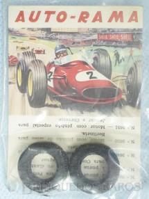 1. Brinquedos antigos - Estrela - Par de pneus dianteiros para Ferrari 156 versão Kit Embalagem lacrada Ano 1965