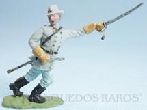 1. Brinquedos antigos - Herald - Comandante Confederado avançando com sabre Década de 1950 Figura Matriz para Soldado Fanabri Batalha do Tuiuti