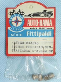 1. Brinquedos antigos - Estrela - Conjunto de 4 buchas fechadas sinterizadas para Chassi Monobloco de Carros 1:32 Série Fittipaldi Embalagem lacrada Ano 1972