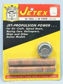 1. Brinquedos antigos - Jetex - Combustivel sólido para Turbinas Sitema Jetex de propulsão a jato Década de 1950
