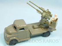1. Brinquedos antigos - Balila - Caminhão militar Metralhadora Anti Aérea Década de 1960