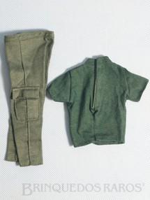 1. Brinquedos antigos - Estrela - Calça e Camiseta do Soldado de Combate Série Força de Ataque Edição 2000