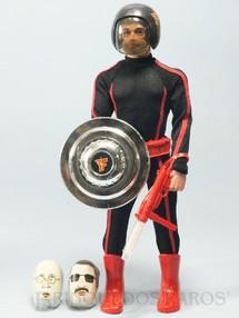 1. Brinquedos antigos - Estrela - Boneco Falcon Série Olhos de Águia loiro com barba completo com 8 Itens Edição 1981