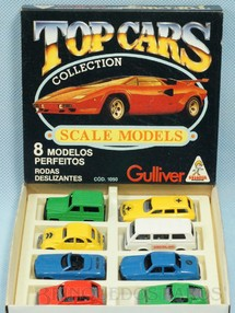 Brinquedos Antigos - Casablanca e Gulliver - Conjunto Completo Top Cars Collection Scale Models com 8 carros diferentes D�cada de 1980