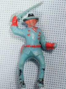 1. Brinquedos antigos - Casablanca e Gulliver - Coronel da Sétima Cavalaria montado a cavalo com sabre