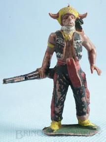 1. Brinquedos antigos - Casablanca e Gulliver - Chefe índio de pé com rifle