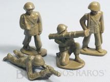 1. Brinquedos antigos - Balila - Conjunto de quatro soldados 6,00 cm de altura Década de 1960