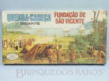 1. Brinquedos antigos - Coluna - Quebra Cabeça Gigante Fundação de São Vicente caixa lacrada Década de 1960