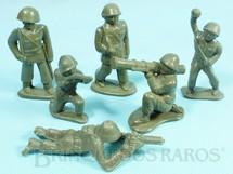 1. Brinquedos antigos - Balila - Conjunto Completo de seis soldados 6,00 cm de altura Década de 1960