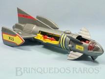 1. Brinquedos antigos - Multiple Poducts Corp. - Nave Espacial Thunderbirs Fireball XL5 com 51,00 cm de comprimento Completa com Pilotos e Motocicletas a jato Ano 1964