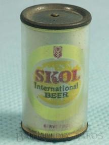 1. Brinquedos antigos - Sem identificação - Lata da Cerveja Skol International Beer com 3,0 cm de altura Brinde da Década de 1980
