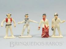 1. Brinquedos antigos - Viocena - Conjunto Completo de 4 Personagens do Filme Série Gunsmoke com 7,50 cm de altura Década de 1970