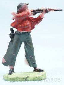 1. Brinquedos antigos - Casablanca e Gulliver - Cowboy de pé atirando com rifle Cowboy Atirador Casablanca numerado 15 Década de 1960