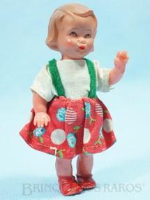 1. Brinquedos antigos - Sem identificação - Boneca com 8,00 cm de altura Olhos pintados e Roupa de tecido Década de 1950
