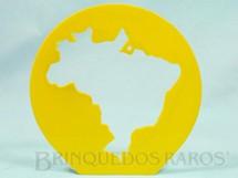 1. Brinquedos antigos - Bandeirante - Gabarito para desenhar o Mapa do Brasil Década de 1970