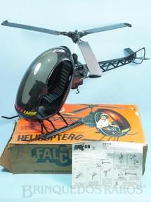 1. Brinquedos antigos - Estrela - Helicóptero preto Edição 1982 Completo com manual Caixa Original datada 05 Maio 1982