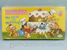 1. Brinquedos antigos - Coluna - Jogo Mônica no País do Açucar caixa lacrada Maurício de Sousa Década de 1980