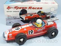 1. Brinquedos antigos - Sem identificação - Carro de Corrida Hi Speed Racer Lotus 38 Fórmula Indy com 30,00 cm de comprimento Sistema Bate e Volta Década de 1970