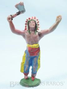 1. Brinquedos antigos - Casablanca e Gulliver - Chefe índio de pé com machado