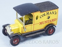 1. Brinquedos antigos - Matchbox - 1912 Ford Model T Yesteryear Colmans`s Mustard Década de 1970