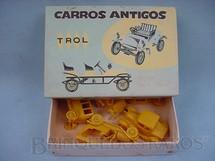 1. Brinquedos antigos - Trol - Conjunto com cinco carros diversos Carros antigos Caixa Azul