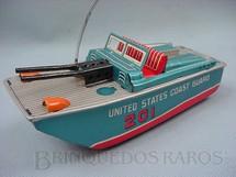 1. Brinquedos antigos - Daiya - Lancha United States Coast Guard Metralhadora com faisca Década de 1960
