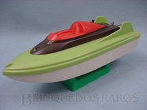 1. Brinquedos antigos - Aero-Brás - Lancha em Vacuum Formed com 25,00 cm de comprimento Década de 1970