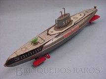 1. Brinquedos antigos - Marusan Toys - Submarino Nautilus com 35,00 cm de comprimento Década de 1970