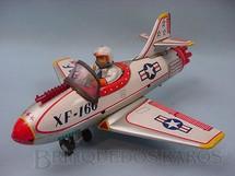 1. Brinquedos antigos - Nomura Toys - Avião XF 160 com 25,00 cm de comprimento Década de 1960