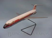 1. Brinquedos antigos - Belplast - Avião McDonnell Douglas DC-9 Ibéria maquete montada Década de 1970