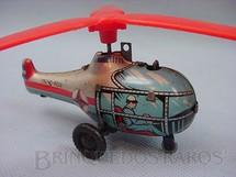 1. Brinquedos antigos - Estrela - Helicoptero prateado e azul Década de 1960