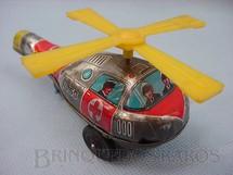 1. Brinquedos antigos - N.D. - Helicoptero de salvamento com 10 cm de comprimento Prateado e Vermelho Década de 1970
