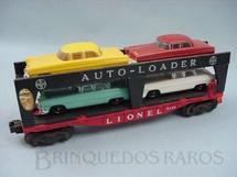 1. Brinquedos antigos - Lionel - Vagão 6414 Lionel Evans Auto Loader com quatro carros reprodução Ano 1955 a 1957