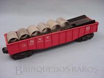 1. Brinquedos antigos - Lionel - Vagão 6342 NYC Gondola for Culvert Loader completo Ano 1956 a 1958