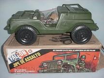 1. Brinquedos antigos - Estrela - Jeep Willys verde Completo com adesivos ainda por colar Série 1977