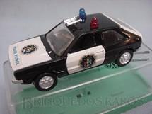 1. Brinquedos antigos - Schuco-Rei - Volkswagen Scirocco Police Brasilianische Schuco Rei