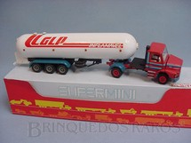1. Brinquedos antigos - Arpra - Cavalo Mecanico Scania Vabis T112 com carreta GLP