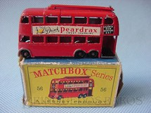 1. Brinquedos antigos - Matchbox - London Trolley Bus black plastic Regular Wheels