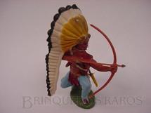 1. Brinquedos antigos - Britains - Índio ajoelhado com arco e flecha Série Swoppet