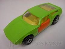1. Brinquedos antigos - Matchbox - Inbrima - Maserati Bora verde com portas laranja Brazilian Matchbox Superfast Inbrima 1970