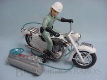 1. Brinquedos antigos - Bandai - Motocicleta de Policia com Policial 29,00 de comprimento Com cabo Década de 1960
